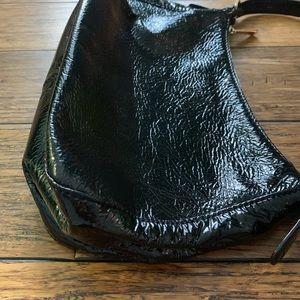 MICHAEL Michael Kors Bags - MK - Black Patent and Gold Hardware Shoulder Bag